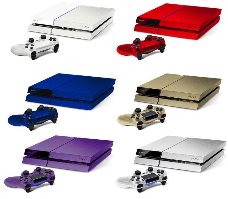 El lanzamiento oficial de la nueva consola de Sony PlayStation 4 está muy cerca, aunque  p algún fan ya se adelanto con algunos diseños a color.