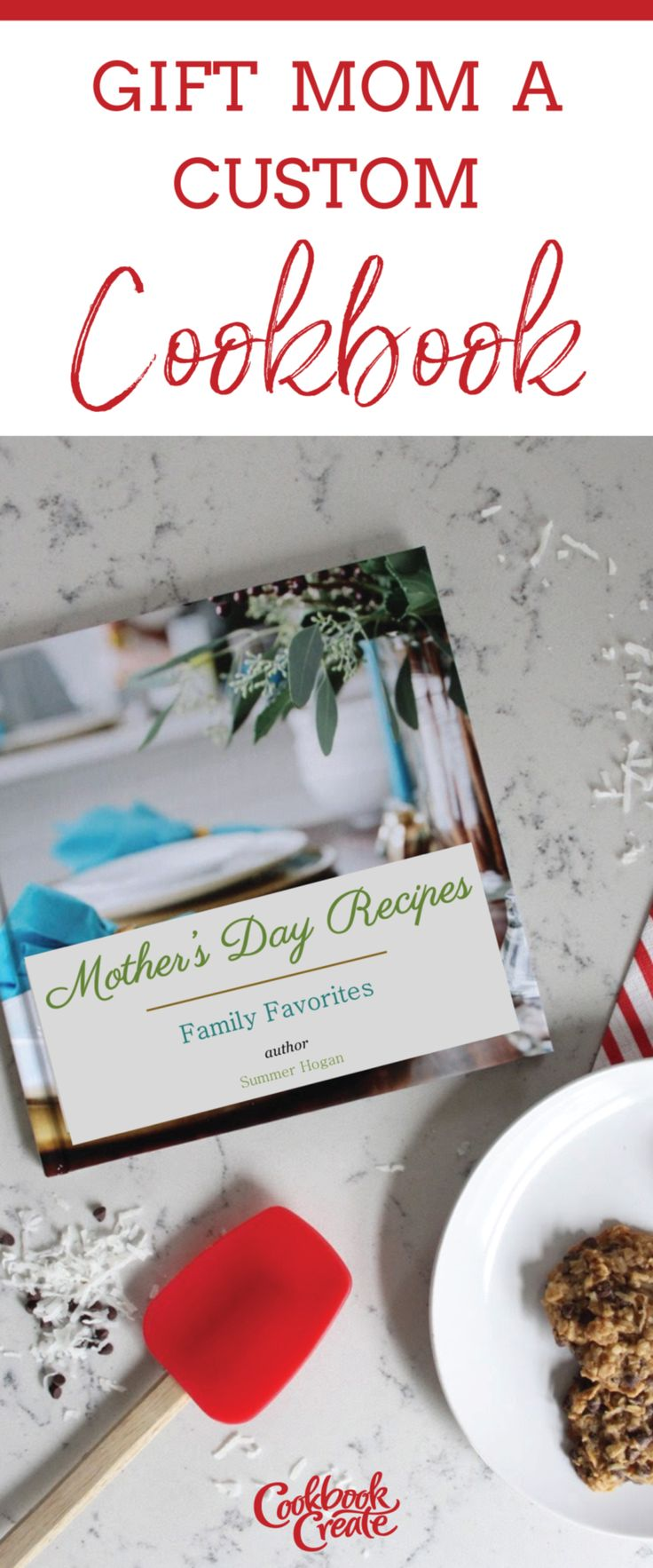 Make your own Cookbook with personal recipes and custom photos. This recipe book is a perfect gift for mom! Mother's Day is right around the corner. Hardcover or Spiral bound, this is the ultimate gift idea for home cooks featuring all your favorite family recipes.