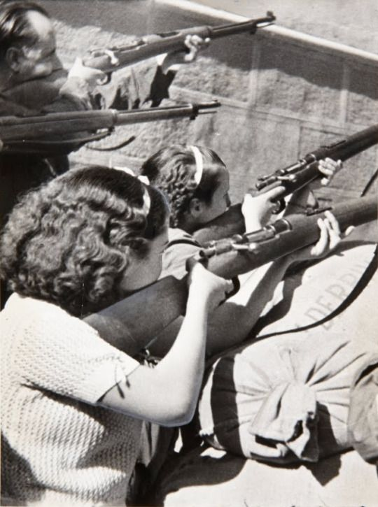 Spanish Civil War  Women at the Siege of the Alcázar in Toledo
