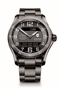 Pánske Hodinky Chrono Classic XLS MT 241300 Swiss-made quartzový strojček multi-task ETA 988.333, dvojitý LCD displej, Black Ice PVD úprava, priemer: ø 45 mm