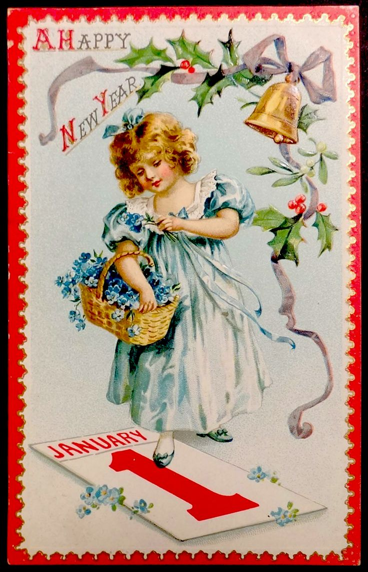 1000+ Images About New Year~Vintage Cards & Toppers On