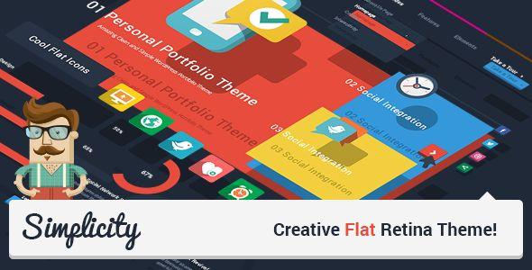 Simplicity - Creative Flat Retina Theme  #themeforest