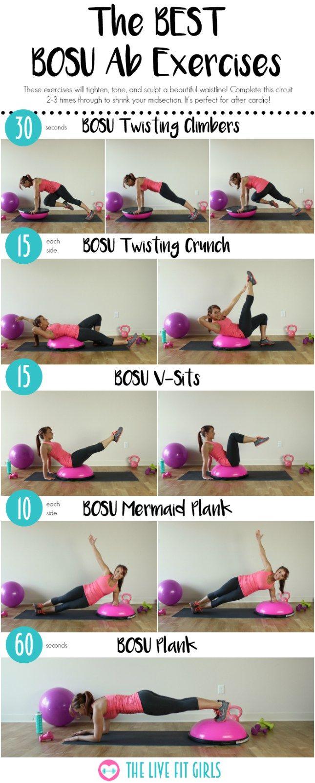 The BEST BOSU Ab Exercises