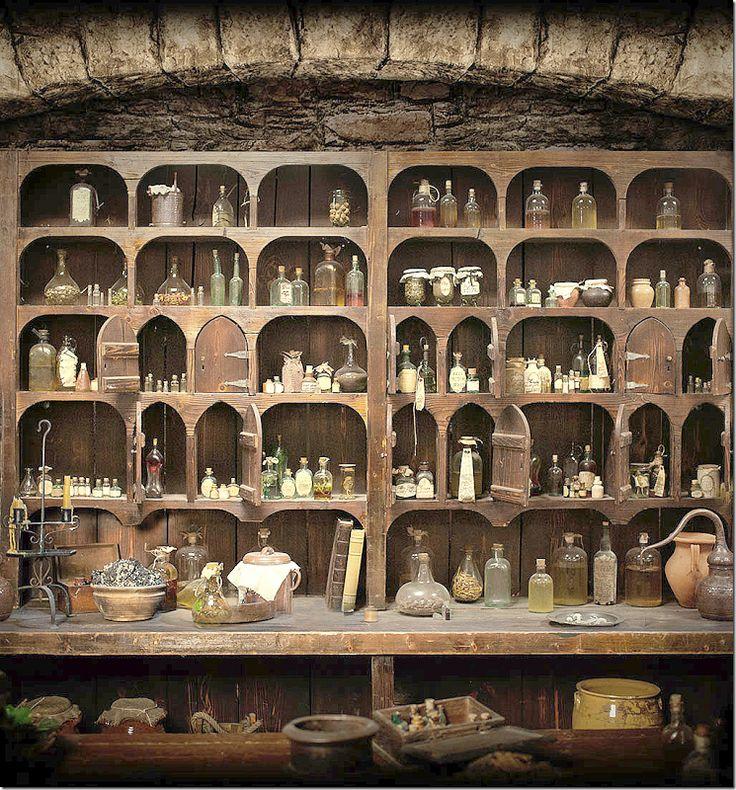 Highlander apothecary cabinet via cote de Texas