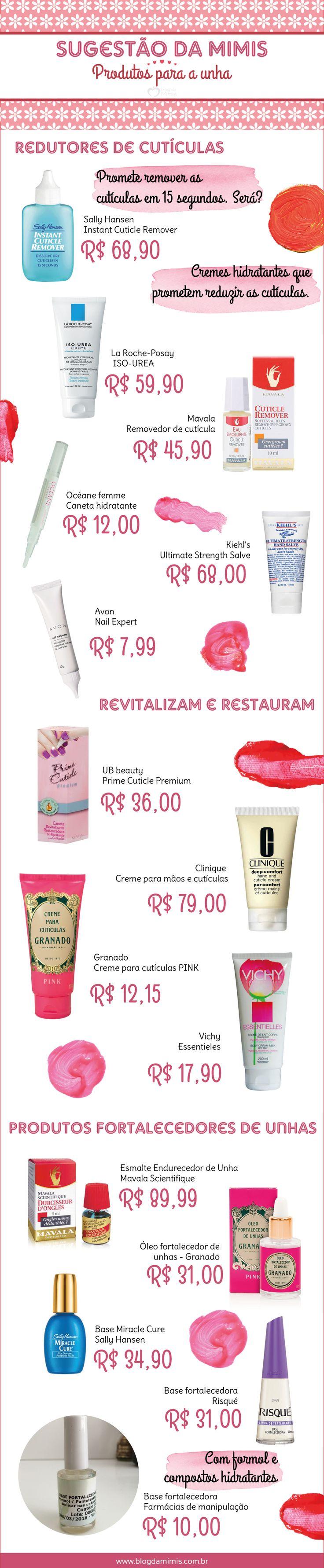 Top list: produtos incríveis para ter unhas mais bonitas - Blog da Mimis #unhas #nair #beauty #cosméticos #beleza #produtos