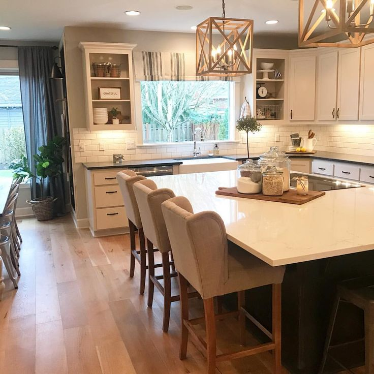 150 best fixxer upper images on Pinterest Dining room, Home - offene küche wohnzimmer trennen