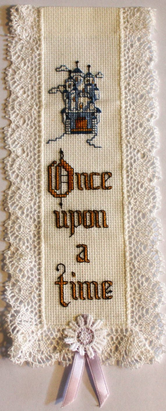Once upon a time = Cross stitch bookmark. A name can be added to the top if desired. on Etsy, $12.50