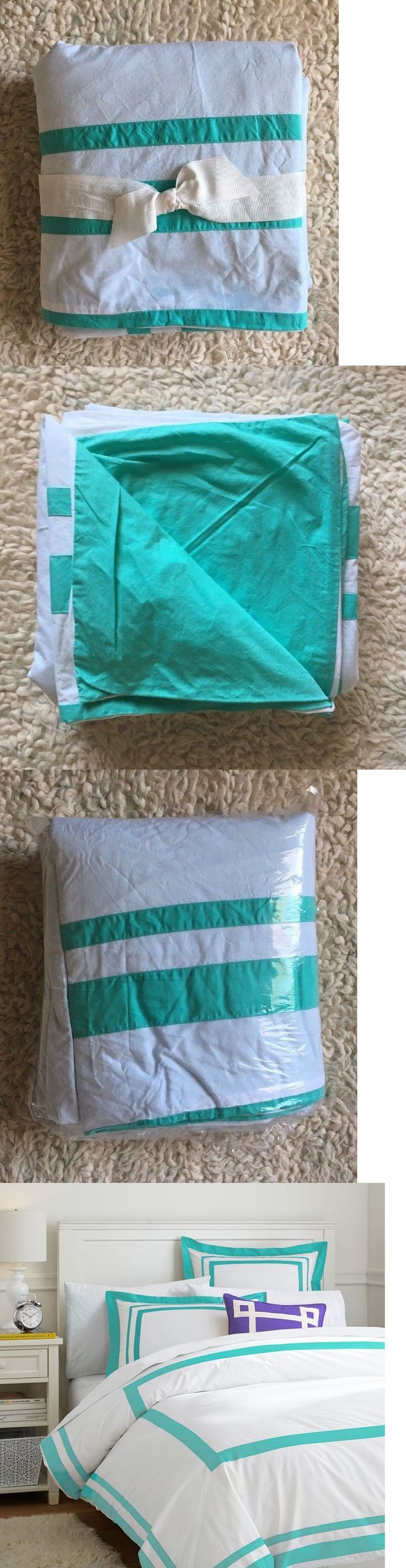 Kids Bedding: Pottery Barn Teen Suite Organic Duvet Full Queen Pool Teal Blue Green $129Msrp -> BUY IT NOW ONLY: $48.5 on eBay!