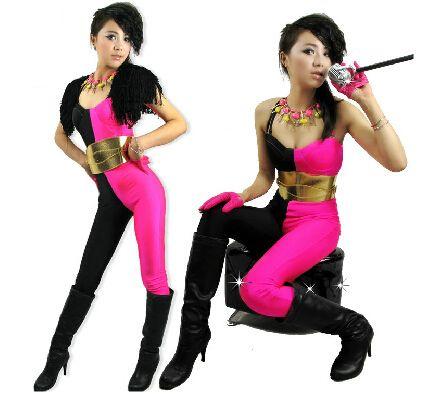 2014 Новая мода Хип-Хоп Танец Костюм производительность ds одежда Европейский свободный неон джаз комбинезон спортивные одна часть Брюки
