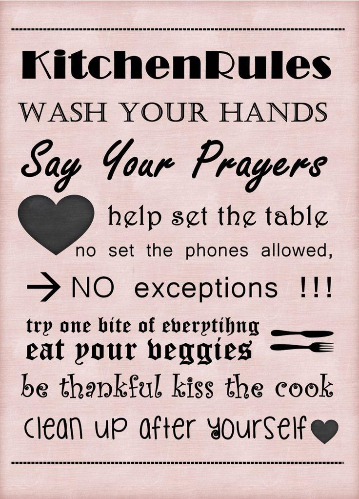 Mutfak kuralları deseni