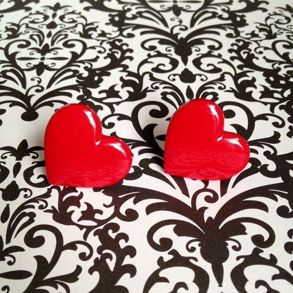 Heart-shaped west Germany earrings