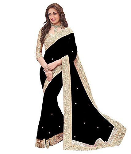 Vinayak Trendz Women's Chiffon Saree With Blouse Piece (Priya sky) | Clothing and Accessories Ethnic Wear Sarees Women | Best news and deals!