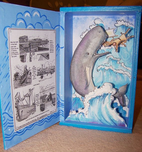 Jonah and the Whale diorama cigar box by StacyMorganoils on Etsy