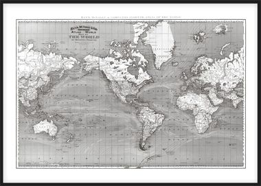 Poster, print with a world map 50x70cm. World map posters online. www.desenio.co.uk