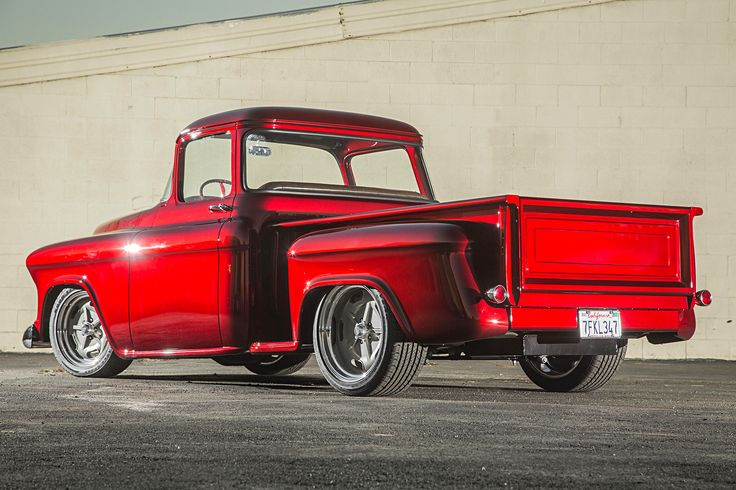 Photo feature on a 1956 Chevy truck.