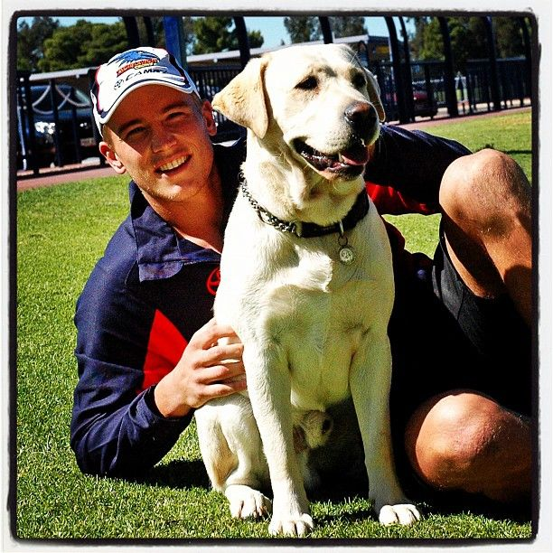 Instagram photo by @adelaide_fc of Bernie Vince with Buddy