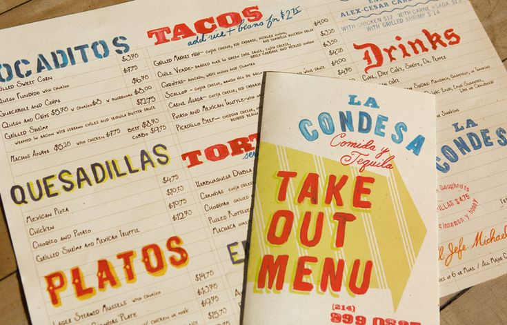 Contemporary Mexican Menus
