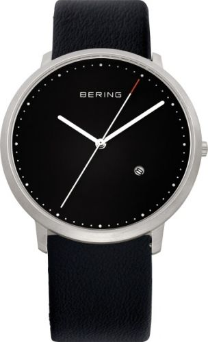 Klassisk klokke med dato fra Bering. Safirglass og urkasse av rustfritt stål. Ultra slim design. #bering #klokke #ur #herreklokke #safirglass #design #danskdesign #zendesign