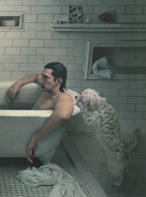 Adam Driver by Annie Leibovitz for Vogue US (Feb. 2014).