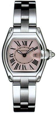 W62017V3 Cartier Roadster Ladies Quartz Pink Dial Watch
