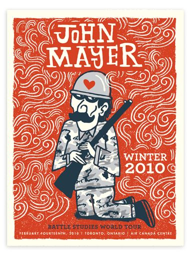 John Mayer 2010 Winter Tour Posters Posters Work Tad