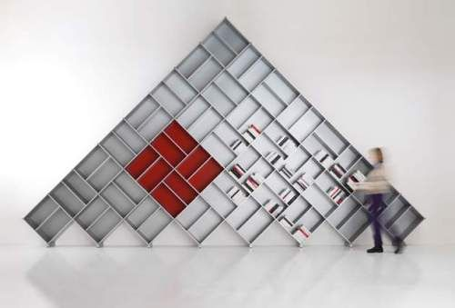 "Nice irregular bookcase ""Pyramid -modular bookcase by Fitting Italy"""