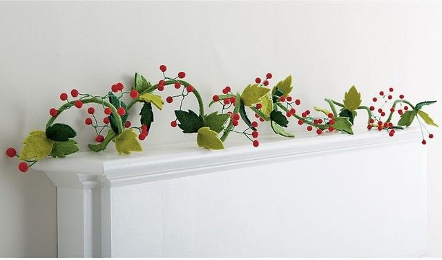Agreeable  Christmas Wreaths & Garlands Felt Christmas Garland  Contemporary  Wreaths And Garlands  By The   | Cards & Wrap