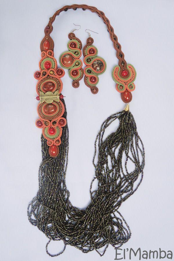 soutache jewelry, handmade jewelry, soutache earrings, soutache necklace