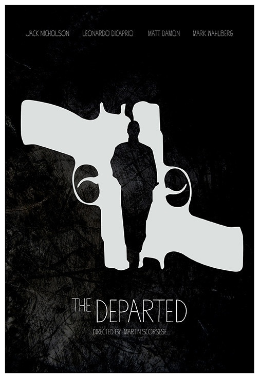 The Departed - minimal movie poster - Calm the Ham