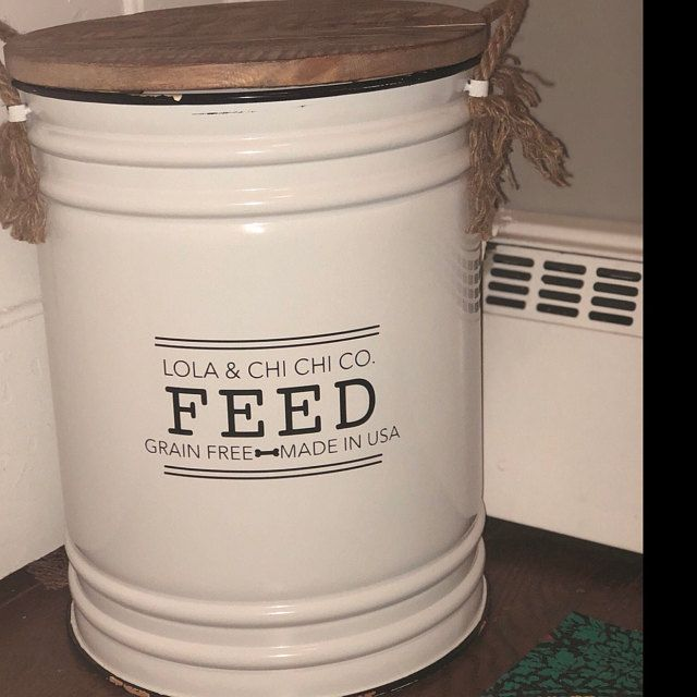 Rustic Dog Food Container Rustic Dogfoodcontainer Farmhouse