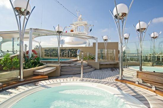 #MSCKreuzfahrten #MSCYachtClub #Luxus #Sundeck