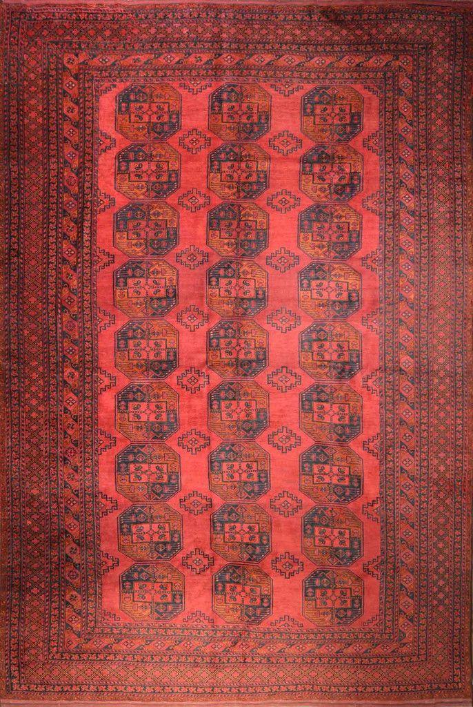 "Carpet Culture - OLD AFGHANI TURKMAN - 9' - 2"" X 13' - 8""  - TO-357"