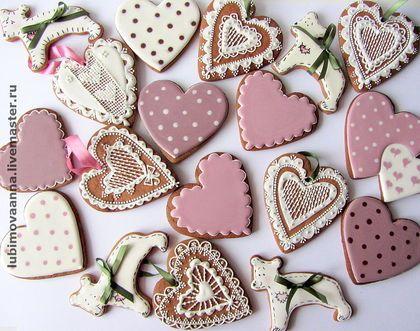 """Пряники имбирные """"Винтаж"""" - имбирное печенье,имбирные пряники,День Святого Валентина"""