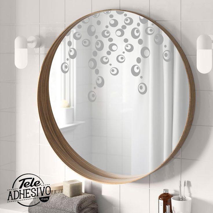 Decoración espejo baño con vinilo adhesivo #wc #decoracion #vinilo #espejo #baño #TeleAdhesivo