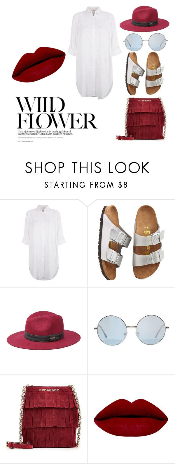 """""""BirkenStyle"""" by taniamandavela on Polyvore featuring Monsoon, Birkenstock, Bebe, Burberry, women's clothing, women's fashion, women, female, woman and misses"""