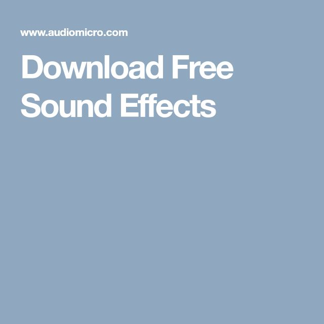 Download Free Sound Effects