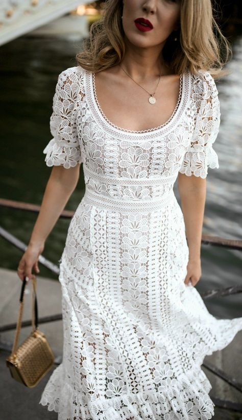 30 Dresses in 30 Days | Day 10: Rehearsal Dinner for the Bride // white floral e... 13