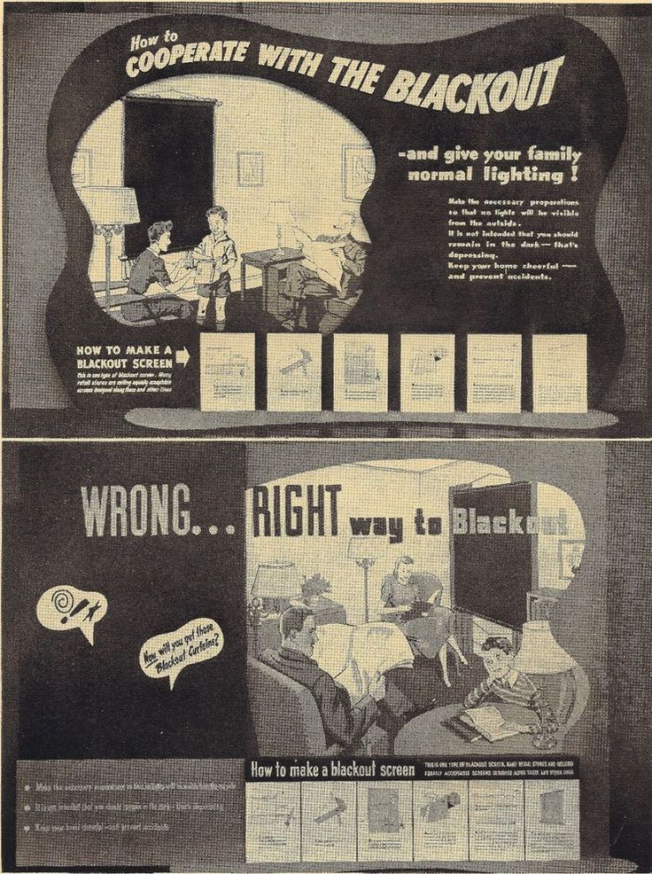 1942 WWII War Effort Blackout Instruction Home Front Consolidated Edison Ad Page #1942 #WWII #WarEffort #BlackoutInstruction #ConsolidatedEdison #HomeFront