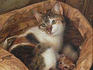 Кошки в искусстве. Антонио Капел: испанский реализм. | Ярмарка Мастеров - ручная работа, handmade
