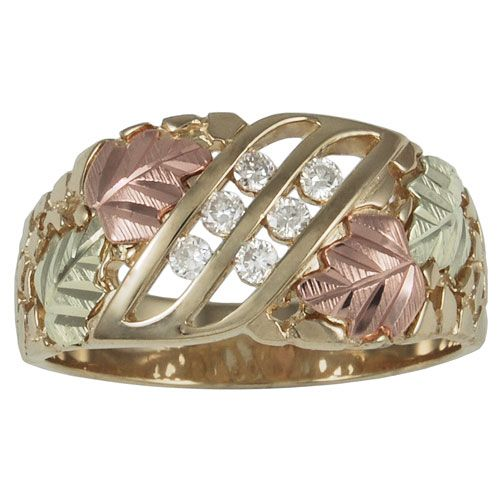 black hills gold jewelry by coleman mens 10k gold wedding ring with 18 tw diamond