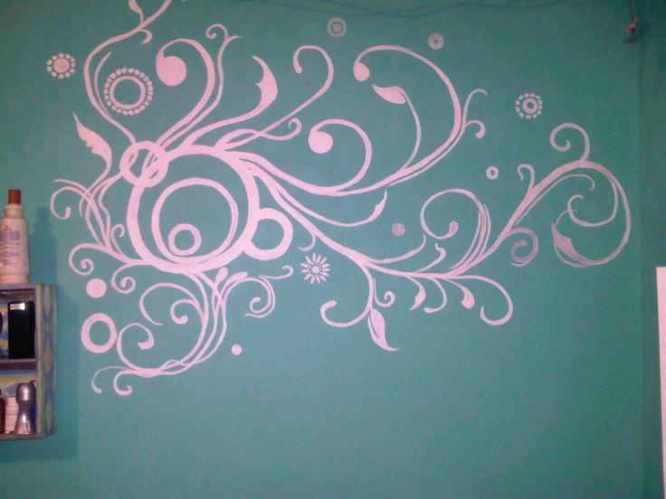 hecho  mano alzada diseño de pared