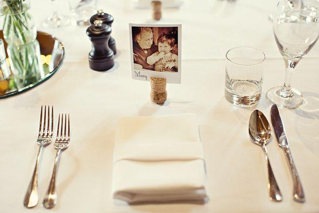 polaroid marque place nominette invité mariage repas