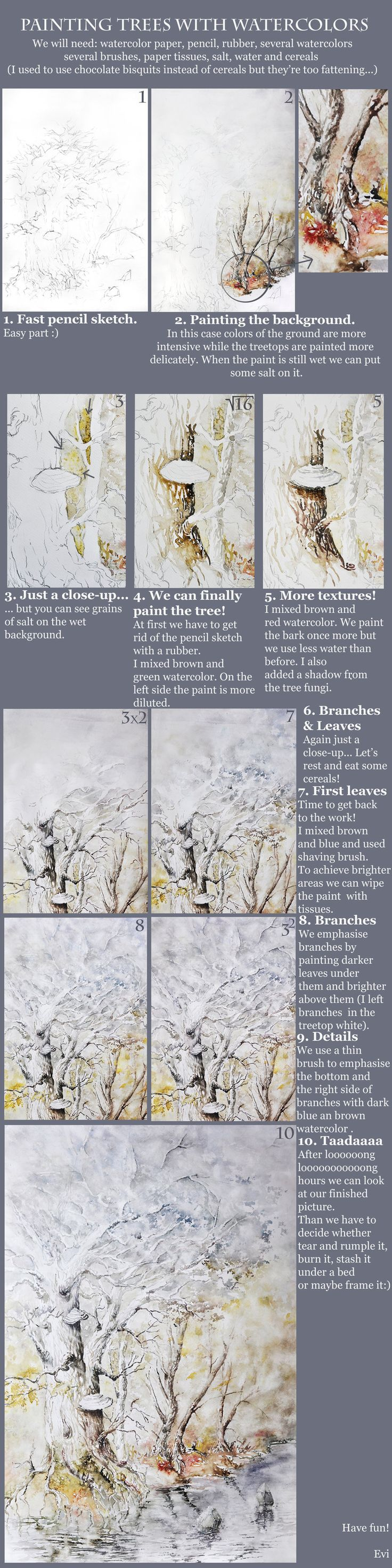 Tree Tutorial by GrimDreamArt.deviantart.com on @deviantART