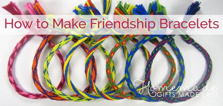 How to Make Friendship Bracelets – in 7 Easy Steps – Feeling Crafty