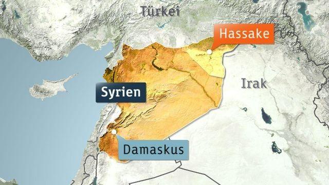 Karte von Syrien (Quelle: ZDF)
