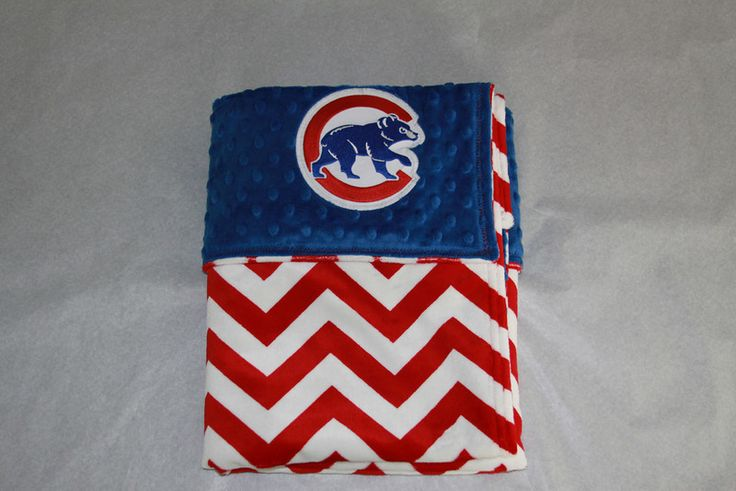 Chicago Cubs baby blanket