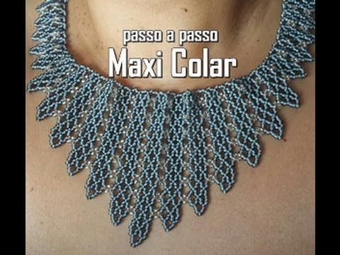 NM Bijoux - Maxi Colar cinza - YouTube