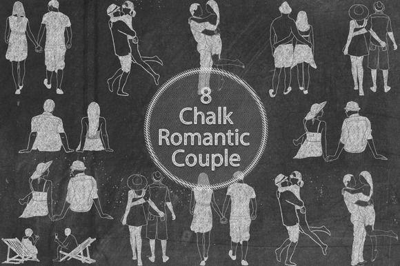 Chalk Romantic Couple by Kaazuclip on @creativemarket