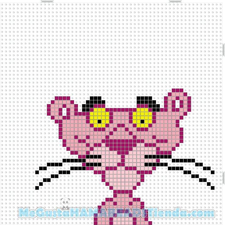 Hama Beads Mini La Pantera Rosa (The Pink Phanter)