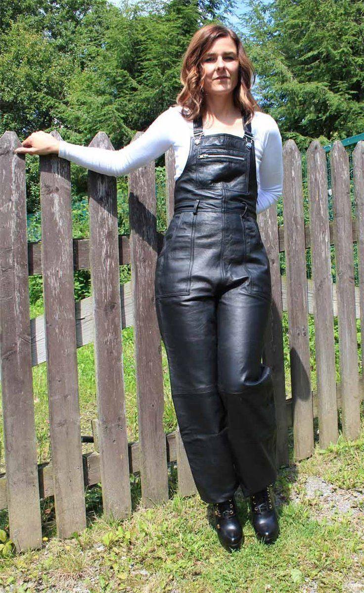 Leder Latzhose Overall Hose schwarz S 38 Lederhose Catsuit Lederoverall 120   eBay